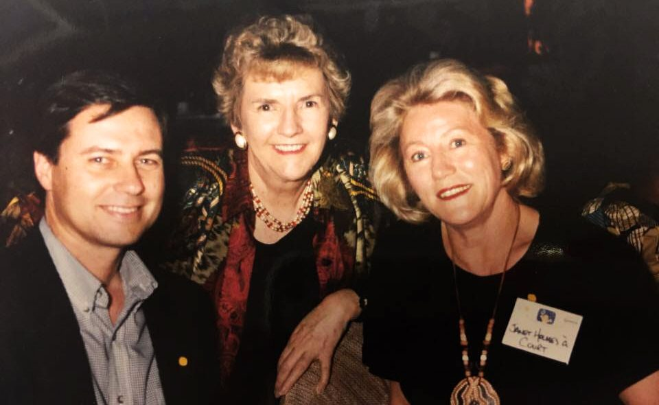 Hazel Hawke and ACTF Board Chairman Janet Holmes A` Court